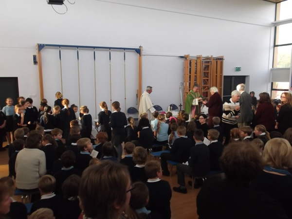 Mass in our school hall