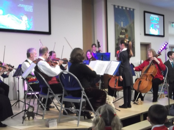 Conducting the orchestra!