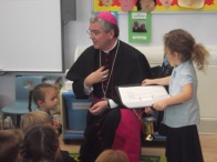 Bishop Mark visits Year 1