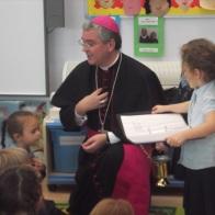Bishop Mark visits Year 1