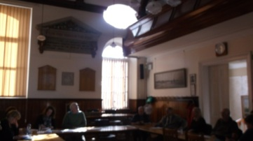 in the council chamber