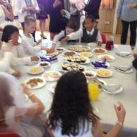 Celebration food after the service