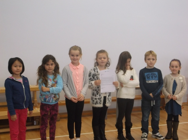 year 1 writing winners