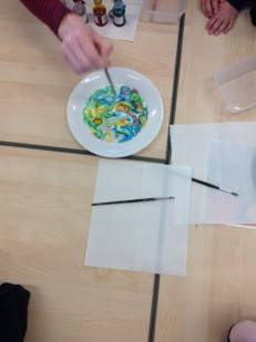 painting with milk in year 1