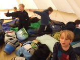 one of the boys' tents