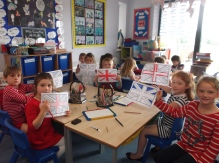 year 2 Union Jack making