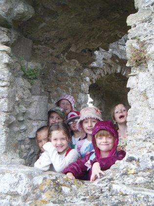 exploring the castle
