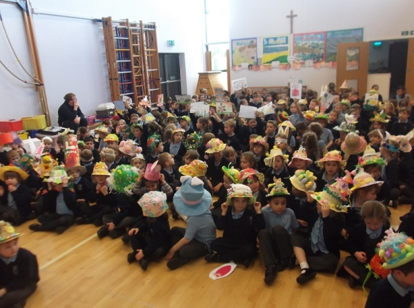 The whole school in their hats!